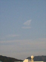 数分前のヨット雲