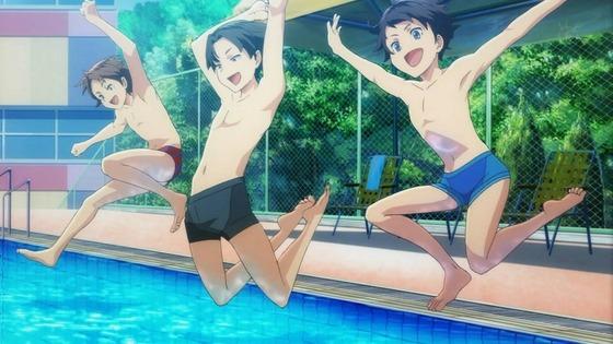 DIVE!! 第1話 感想:飛び込み競技アニメ!あの高さで腹から落ちたら痛そう!