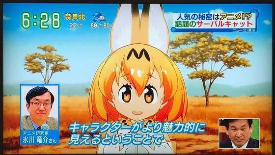 けものフレンズ 朝のニュース番組「す・またん!」サーバル特集:辛坊さんさすがに知らなかったみたい!