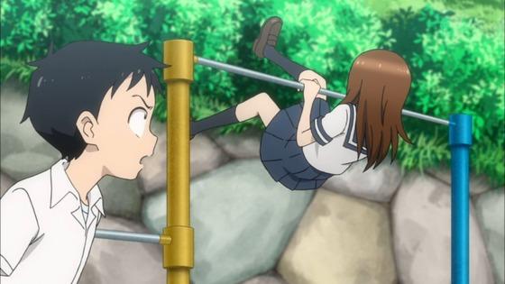 からかい上手の高木さん 第4話 感想:スカートで逆上がりは見えなくて大丈夫だと思ってた!