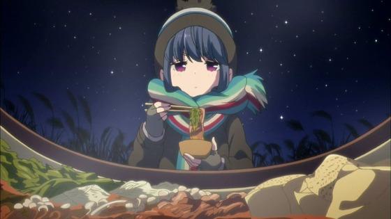 ゆるキャン△ 第11話 感想:寒空の下お外で食べるすき焼きが美味そう!