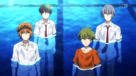 アイドルマスター SideM 第7話 感想:夜の学校プール入るのは青春の思い出になりそう!
