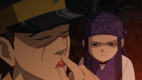 ゴールデンカムイ 第2話 感想:アイヌの食文化とか興味深い!美少女アシリパさんの変顔が始まった!