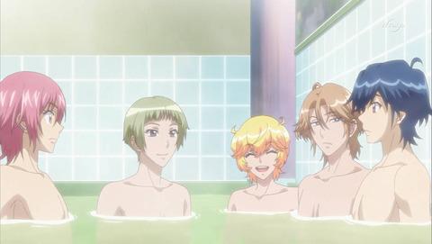 美男高校地球防衛部LOVE! LOVE! 第1話「愛、ふたたび!」感想:湯船にタオルつけちゃダメでしょ!