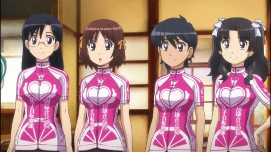 南鎌倉高校女子自転車部 第6話 感想:スカートのないサイクルジャージがぴっちりでかわいい!