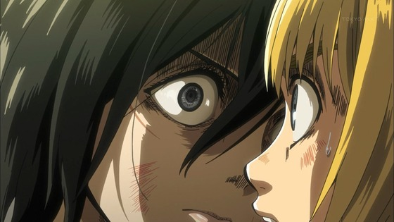 進撃の巨人 第33話 感想:ミカサさん怒ったり泣いたりしおらしくてかわいい!