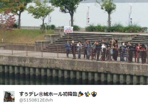 BABYMETAL「巨大キツネ祭り大阪城ホール1日目:物販列」