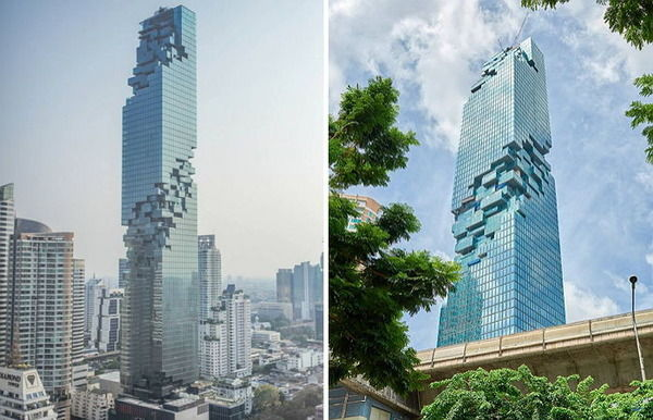 バンコクに建設されたビルがテトリスみたいと話題に 崩れそうで不安になる