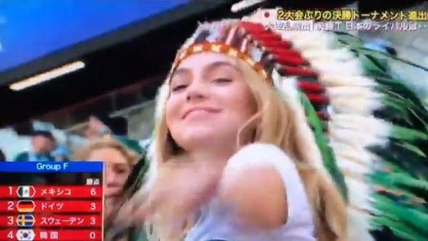 【クッソ可愛いw】W杯最強美人サポーターこの女の子じゃね?www(動画あり)
