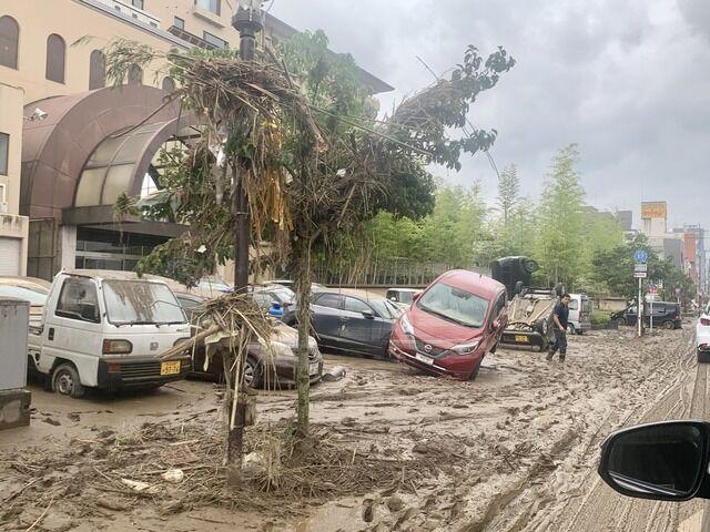 【悲報】大雨の人吉市、空襲後みたいになる