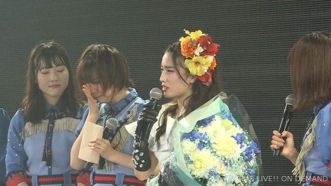 【NGT48】山田野絵ちゃん、佐藤杏樹卒業公演で号泣き・・・