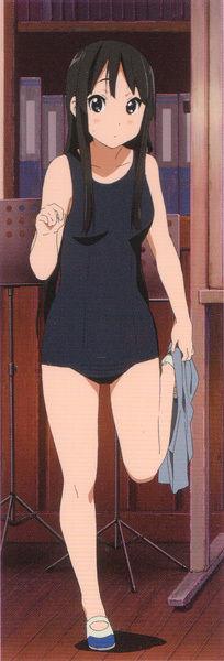 【画像】この秋山澪のスク水シコれるよな?wwwwww