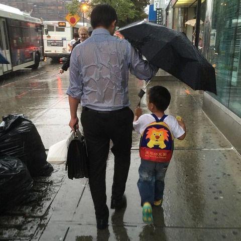 【感動注意】 心温まる父子の画像をご覧下さい