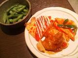枝豆/チーズオムレツ/酢鶏/ペンネナポリタン