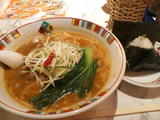 十勝豚麺(赤味噌)&チャーシューおにぎり