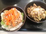 ミニチャーシュー丼&骨付きテール肉
