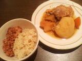 赤飯/山菜の炊き込みご飯/肉じゃが