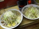 大+煮玉子(ヤサイタワー)