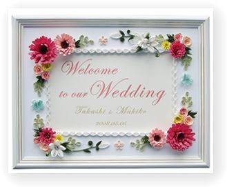 結婚式 結婚式 ウエルカムボード : ... で手作りするウエルカムボード
