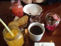 グレープフルーツジュース&オレンジジュース