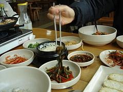 豆腐料理店にて