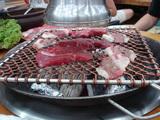 お肉を焼く(横)