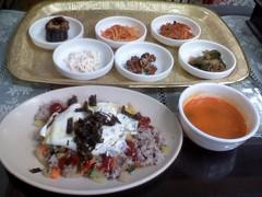 野菜炒め飯定食