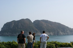 巨済島の外国人観光客