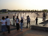 湖水公園の噴水