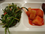 ニラと白菜のあえもの&カクテキ