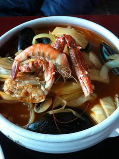 海産物のチャンポン6000ウォン
