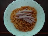 ビビン麺(ハムなどのせてみる)