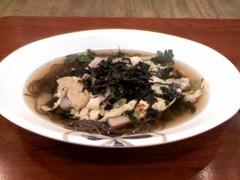 温モミル(韓国の温かいお蕎麦)