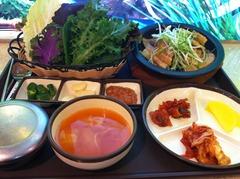 三枚肉サムパプ(7500ウォン)
