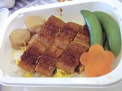 [札幌→ソウル]うなぎの機内食