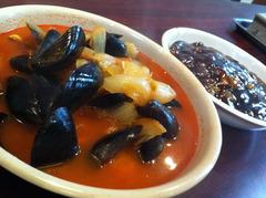 ムール貝のチャンポン+ジャジャン麺