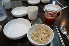 前菜のボリパプ(麦飯)
