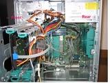 富士通 PRIMERGY TX100 S2の筐体内部の様子