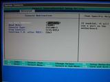 富士通 PRIMERGY TX100 S2のBIOS設定画面の様子