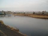 渡良瀬川の河原