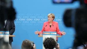 ▲記者会見で難民政策の修正を発表するメルケル独首相(2016年9月19日、CDUの公式サイトから)
