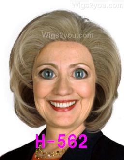 H-562 ヒラリー クリントン コスプレウィッグ 大統領候補 Halloween
