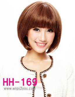 HH-169 人毛ウィッグ ボブウィッグ ミセスウィッグ