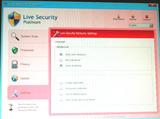Live Security Platinumが勝手に起動した画面