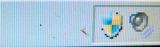 Live Security Platinumに感染した後のタスクトレイのアイコン