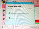 nライブ セキュリティ プラチナムの選択画面