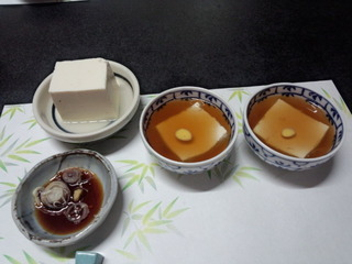 01豆富料理笹乃雪7冷奴あんかけ豆富