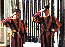 バチカン衛兵の敬礼
