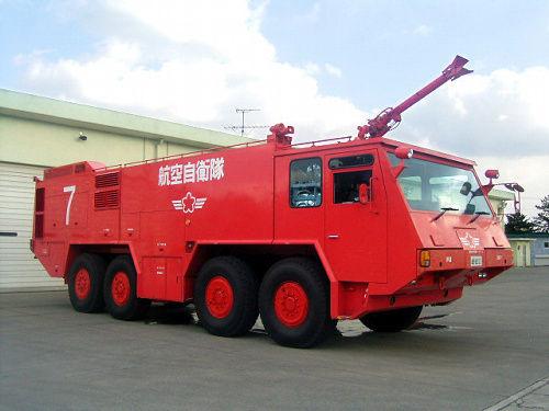 自衛隊の消防車両