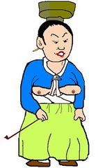 朝鮮の母親